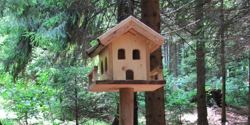 pin bau anleitung vogelhaus selber bauen on pinterest. Black Bedroom Furniture Sets. Home Design Ideas